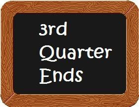 End of 3rd Quarter