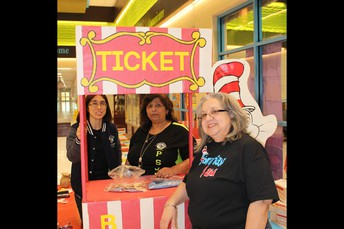 Left to Right Ms. C. Hinojosa, Mrs. M. Chavez & Librarian