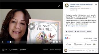 Subdirectora Leslie Facebook Live Read aloud
