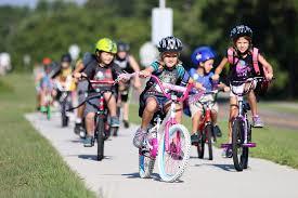 Riding Bicyles to School