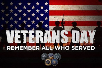 No School-Veterans Day, Monday, November 12