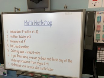 A Math workshop plan