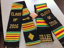 SENIORS! Kente Stole with Class of 2018 Key Chain