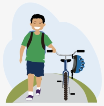 BIKING TO AND FROM SCHOOL
