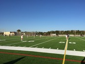 Girls Soccer - First game on BHS Turf