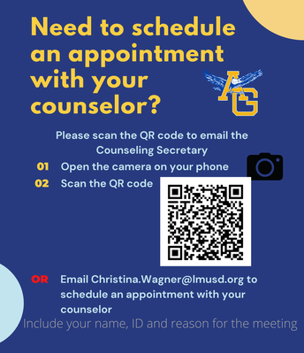 Schedule an appointment with the counselor
