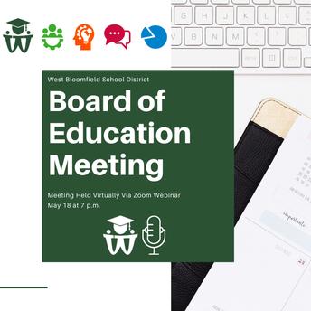 Regular Board of Education Meeting - May 18
