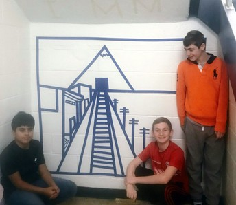 Interdisciplinary Seventh Grade Art Projects