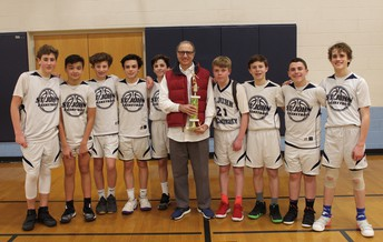 8th Grade Boys and Coach Tribone