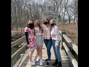 (Pictured from left to right: Ellie Cady, Sienna Daniels, Michela Miller, and Maggie Kasdorf).