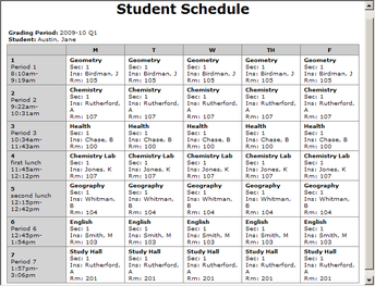 Schedule Fixes and Changes