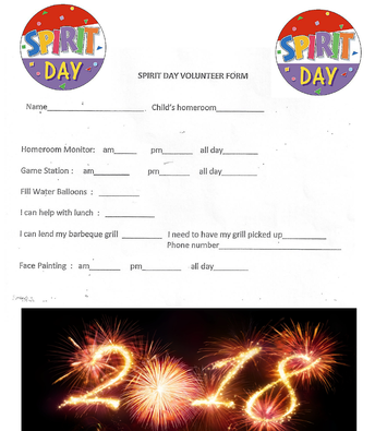 Spirit Day 2018 Volunteer Form