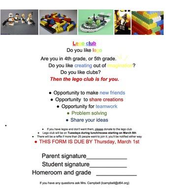 Lego Club Flyer