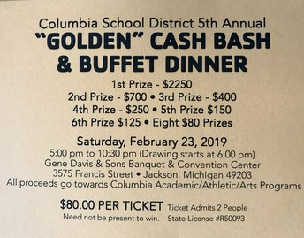 COLUMBIA GOLDEN CASH BASH