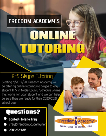 Virtual Tutoring Available for Elementary Students