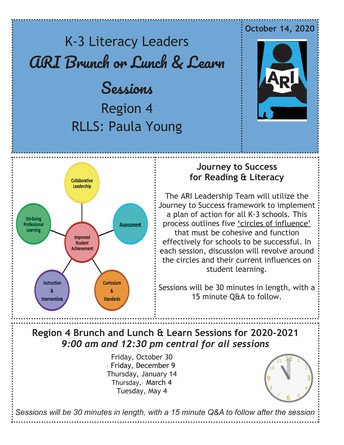 K-3 Literacy Leaders: ARI Brunch and Learn (Hosted by Paula Young)