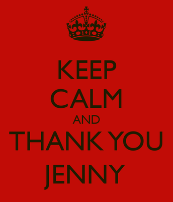 Thank you our Amazing Auction Chair, Jenny Reich!