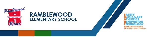 A graphic banner that shows the school's name and logo with the SMART logo