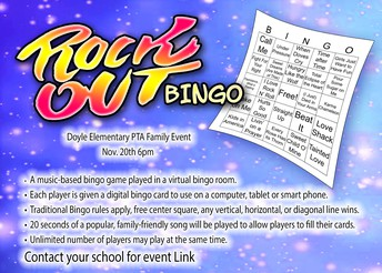 Doyle PTA Rock Out Bingo!