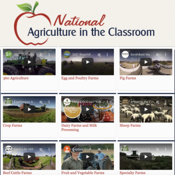 Screenshot of National Agriculture in the Classroom Virtual Tours website