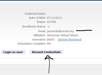 Resending Credentials