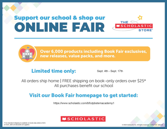 Online Book Fair sponsored by PTO!