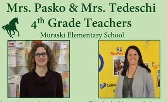 MUSTANG SPOTLIGHT - MRS. PASKO & MRS. TEDESCHI, 4TH  GRADE TEACHERS AT MURASKI