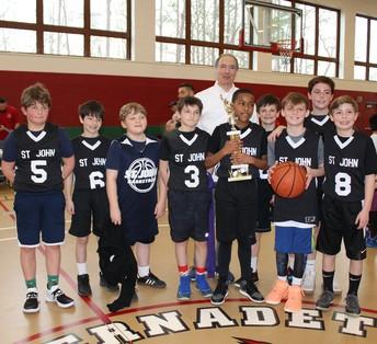 5th Grade Boys and Coach Tribone