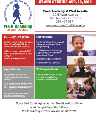 Pre-K Academy at West Avenue-Registration Open