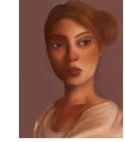 Trinity Stephens, Bronze-Eyed Woman, Digital Art