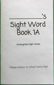 Keep practicing your sight words!
