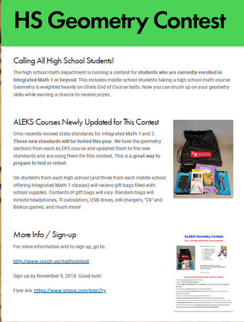 ALEKS Geometry Contest for HS Students