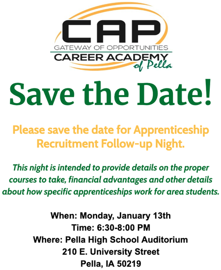Career Academy Save the Date