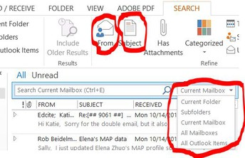 Tech Tip: It's not in there...or is it?: Searching Outlook Mail