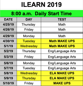ILEARN Schedule at Weston