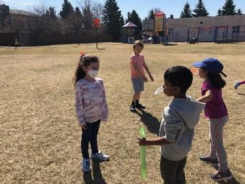 Bubble fun at recess!
