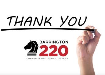 Thank you Barrington 220 staff!