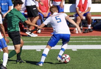 buffs soccer deal some fancy footwork to reagan