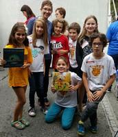 Lauren Castillo and 4th Graders