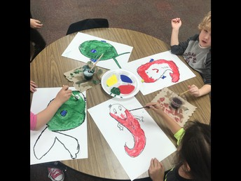 Painting Dr. Seuss Fish!