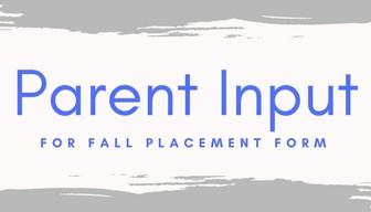 2021-2022 Parent Input form
