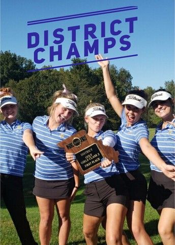 Girls Golf Wins Back To Back District Championships