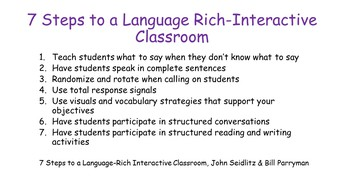 7 Steps to a Language-Rich Classroom