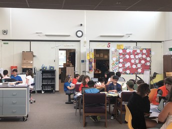 """Fifth Grade students preparing for """"We the People."""""""
