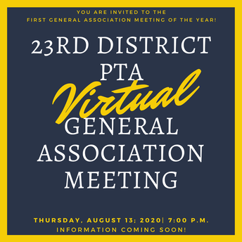 August General Association Meeting - We're calling you to attend!