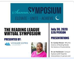 Summer Symposium Workshop by The Reading League FREE for OCLI Educators