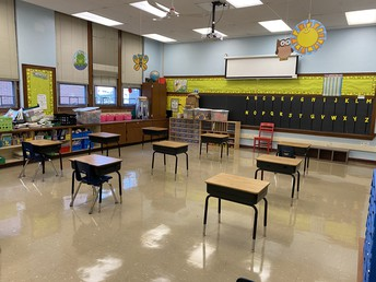 Primary classrooms 705 square feet capacity 12-13