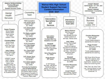 Student Support Services Flow Chart