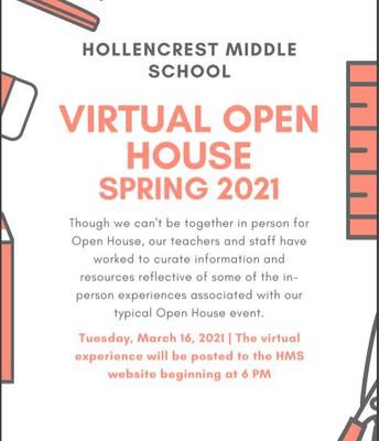 Virtual Open House 3/16