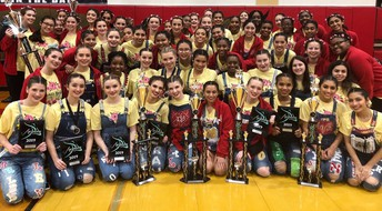 The Belles and Charms just completed their final competition!  LOTS of 1st and 2nd place awards throughout their competition season!